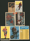 1951-52+ PARKHURST TOPPS O-PEE-CHEE HOF COLLECTION HARVEY BELIVEAU HULL PLANTE
