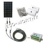 COMPLETE KIT 160 W Watt 160W PV Solar Panel 12V RV Boat Off Grid battery charger