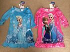 NWT Frozen Long Sleeve Nightgowns Pajamas Elsa Anna Pink Blue S M L
