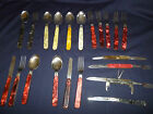 lot vintage tourist set knife fork spoon very big collection