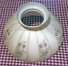 Vintage 10 Cream Hurricane Aladdin Lamp Shade w Painted Pastel Flower Pattern
