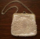Vintage Purse FINE ARTS EVENING BAG New York Beads Sequins Hong Kong Chain Strap