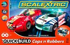 Scalextric Cops N Robbers Quick Build 1/32 Scale Slot Car Race Track Set C1323