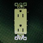 50  Decorator Residential Duplex Receptacles 15A Outlet UL/CUL Plug Ivory