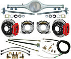 CURRIE 70 1 2 81 GM F BODY REAR END  WILWOOD DRILLED DISC BRAKESRED CALIPERS+