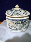 222 FIFTH ADELAIDE BLUE WHITE FRENCH TOILE BIRD CANISTER JAR W/LID SMALL NEW