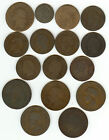 FRANCE 16 COPPER/BRONZE COINS 1791-1856!!!