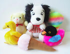 Lot of 6 Vtg 1980s Plush Stuffed Animals Dog Bird Ice Cream Circus Circus Bear