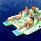 Tropical FLOATING ISLAND for Pool Lake Beach Float Water Toy Inflate White Green