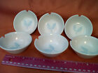 Rosenthal ?? Round White Dish Blue Wheat  Pattern Ashtrays   Lot of 6  (D)