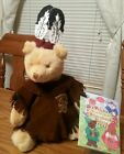 NEW Treasures Inc. Story Book Bear Native Indian with Stand from POCHAHANTOS