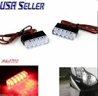 2 Universal RED LED Rear Marker Brake Tail Light Motorcycle Street Bike Zoomer