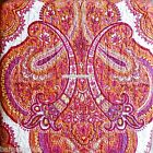 Moroccan Paisley Medallion 4pc FULL QUEEN Quilt RED ORANGE YELLOW Bohemian