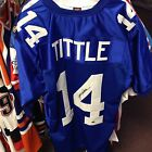 Y.A. Tittle New York Giants HOF Auto Authentic Jersey w Leaf Authentic COA