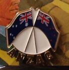 THE ANZAC LAPEL PIN AUSTRALIA & NEW ZEALAND FLAGS  NEW For 2014
