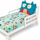 4 Pc. Toddler Bedding Set Baby Girls Boys Boutique Nursery Bed Sets Blue Owl NEW
