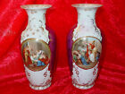 Pair of Antique 1919-1939 Victoria Schmidt & Co. Czechoslovakia Vases-Grecian