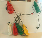 Vintage Blow Mold Lantern String Lights RV Camper Patio red yellow green lantern