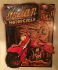 Indian Motorcycle Metal 3d Picture Sign Art Gloves Helmet Vintage Style