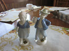 Pr Golden Crown Bavaria Blue & White Boy & Girl Figurines Western Germany Tags +