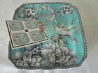 BRAND NEW- 222 Fifth Adelaide Turquoise - SET of Four Appetizer Plates - Sealed