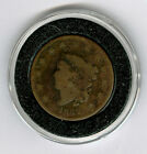 1832 Large Cent -  Brown Lower Grade coin Matron/Coronet Head Counter stamp
