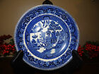 ANTIQUE BUFFALO SEMI VITREOUS 1911 BLUE WILLOW PLATE 6