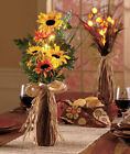 1 22 Lighted Sunflowers Floral Arrangement Autumn Fall Harvest Home Decor
