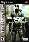 PlayStation2 PS2 Game: Tom Clancy's SPLINTER CELL Complete Case Art Instructions