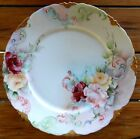 Antique Rosenthal - MINT - Versailles - Roses Hand Painted Plate - late 1800s