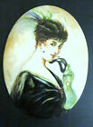 Rare Antique German Hutschenreuther Handpainted Signed Porcelain Plaque