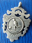 EARLY Silver Football Medal / Watch Fob / Pendant 1903 - presented by Lady Elo