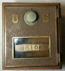 Vintage Early 1900s Brass Post Office Door Bank with Coin Slot HANDMADE in USA