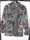 Military Issue Woodland Cold Weather Field Jacket Size: Small - Regular