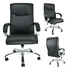 Manager High Back Office Chair Draft Leather Ergonomic Computer Task Desk