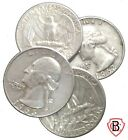 Lot of (4) Old US 25c Coins ALL 90% Junk Silver Pre-1965 $1 Face .715 Troy Ozs'