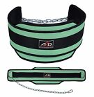 Neoprene Weight Lifting Dip Belt Exercise Belt Fitness Body Building Belt Green
