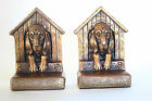 The Doghouse Bronze Clad Bookends