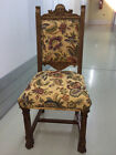 RARE Vintage Carved Wood Antique Claw Foot Cushion Chair