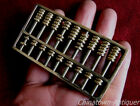 Chinese Copper mini miniature abacus SuanPans 9 Column 63 Count beads #387