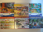 Lot of 6 Jigsaw 1000 pc Puzzles Wysocki Hometown Collection