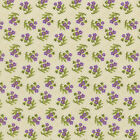RJR Fabrics Debbie Beaves Lovely 1449 02 Pansy on Cream Gingham By the Yard