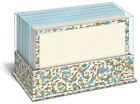 Florentine Blue 50 Boxed Flat Note Cards with Envelopes by Graphique de France