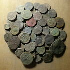 Lot of 100 uncleaned Roman Bronze Coins #01