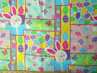 EASTER PATCH, LARGE EASTER BUNNIES, EGGS, BUTTERFLIES, FLOWERS,   BY THE YARD