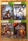 Xbox 360 4 Game Lot. Halo 4, Battlefield 3, Far Cry 3 & Portal 2