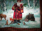 1 panel WOODLAND SANTA Spectrix Fabrics SPX Giordano Studio Old world Santa bear