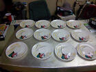 (12) Vintage Red Wing USA  Saucers Hand Painted