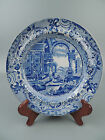 Antique English Blue Transfer Staffordshire Plate - Ancient Rome