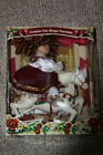 Rare Collectors Choice Bisque Porcelain Christmas Doll on Carousel Horse